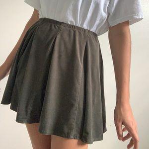 Brandy Melville dark green suede skirt